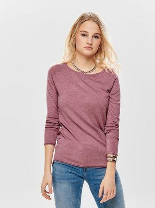 Růžový lehký basic svetr ONLY Mila
