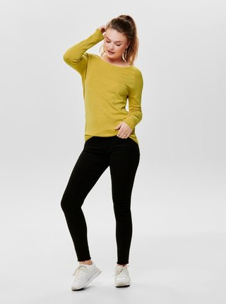 Žlutý lehký basic svetr ONLY Mila