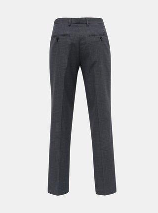 Tmavomodré kockované tailored fit nohavice Burton Menswear London