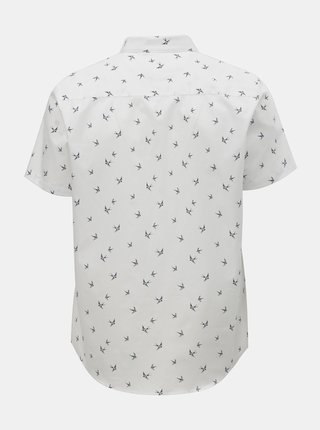 Biela vzorovaná košeľa Burton Menswear London