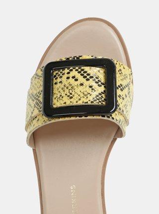 Žlté šľapky s hadím vzorom Dorothy Perkins