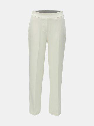 Krémové kostýmové nohavice s vysokým pásom AWARE by VERO MODA Gemma