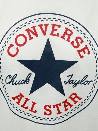 Biele pánske tričko s potlačou Converse
