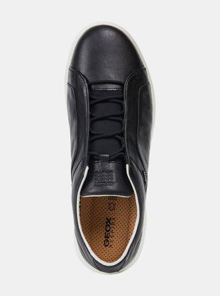 Černé pánské kožené tenisky Geox Nexside