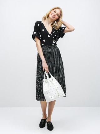 Bielo–čierne bodkované šaty Miss Selfridge