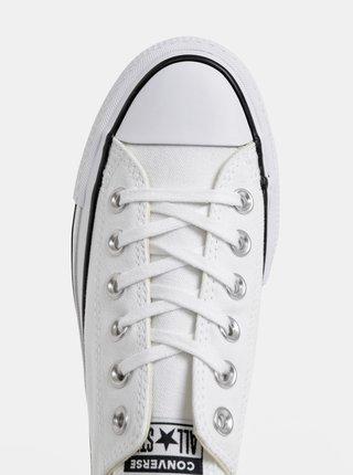 Bílé dámské tenisky na platformě Converse Chuck Taylor All Star