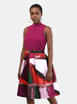 Fialové vzorované šaty Closet