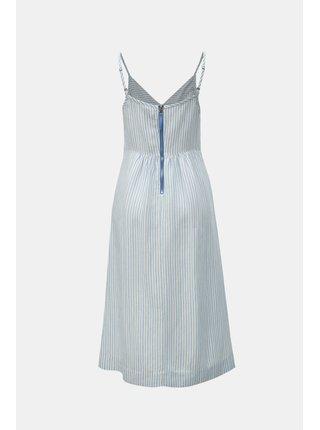 Modro–biele pruhované ľanové šaty Tom Joule Zoey