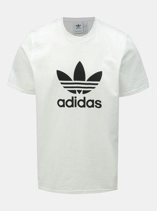 Bílé pánské tričko s potiskem adidas Originals Trefoil