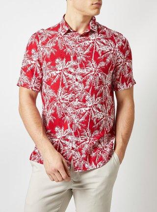 Červená vzorovaná košeľa Burton Menswear London