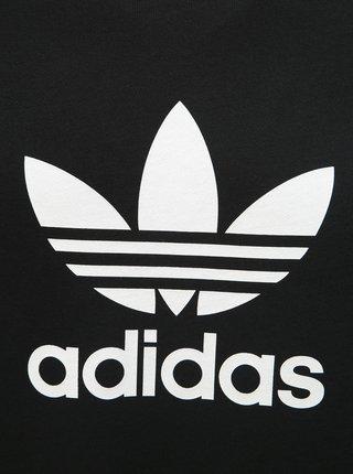 Černá pánská mikina s potiskem adidas Originals Trefoil