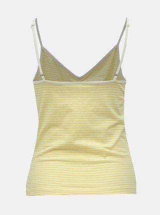 Žluto-bílé pruhované tílko Noisy May Cilla