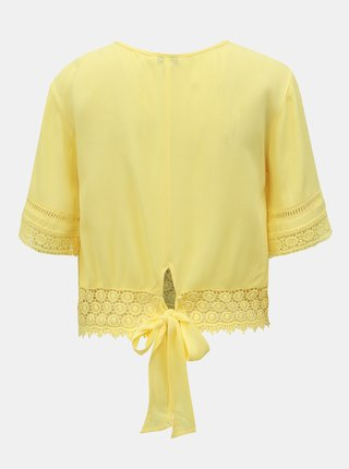 Žltý top s madeirou Miss Selfridge
