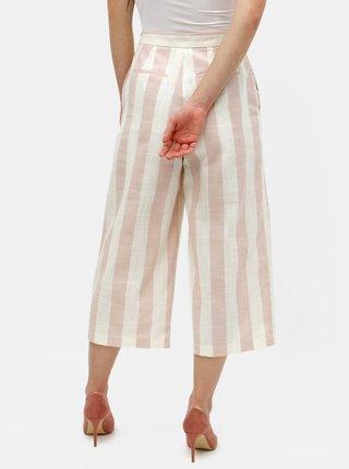Krémovo–ružové pruhované culottes ONLY Nanna