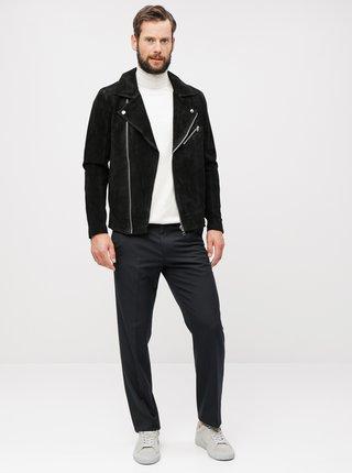 Čierne pruhované tailored fit nohavice Burton Menswear London