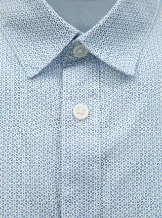Svetlomodrá vzorovaná slim fit košeľa Selected Homme Chris