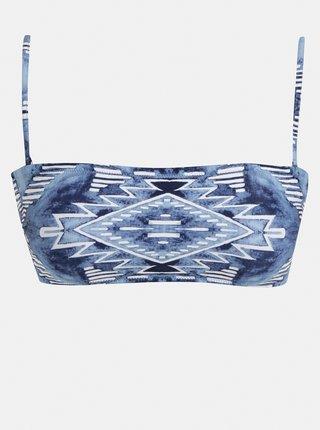 Modrý dámsky vzorovaný vrchný diel plaviek Rip Curl