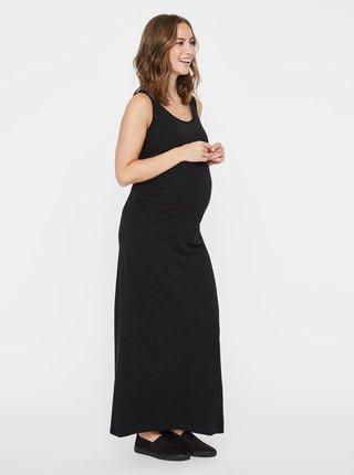 Černé těhotenské maxišaty Mama.licious Lea