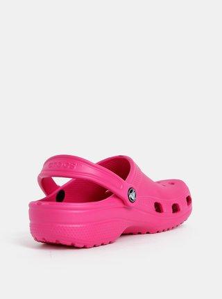 Tmavoružové dámske šľapky Crocs Classic Clog