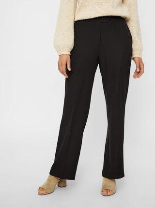 Čierne kostýmové nohavice s vysokým pásom AWARE by VERO MODA Gemma