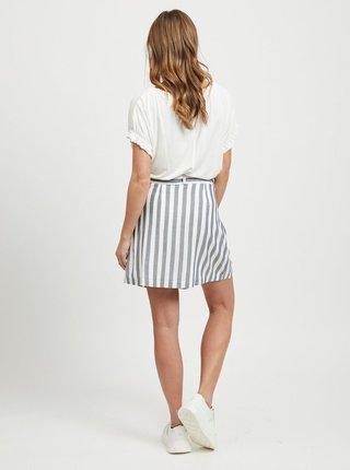 Krémovo–sivá pruhovaná sukňa VILA Harper