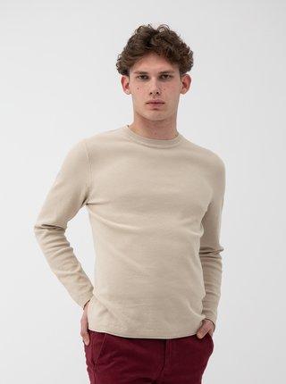 Béžový sveter Selected Homme Stoke