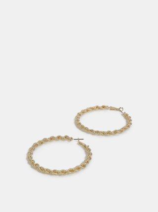 Kruhové náušnice ve zlaté barvě Pieces Carina