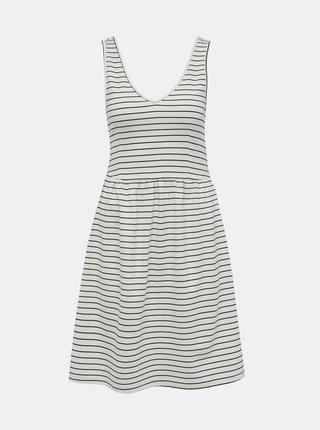 Bílé pruhované šaty ONLY Joy