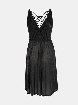 Tmavě šedé plážové šaty s průstřihy prAna Delori