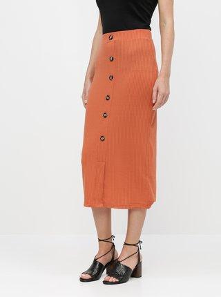 Cihlová pouzdrová sukně TALLY WEiJL