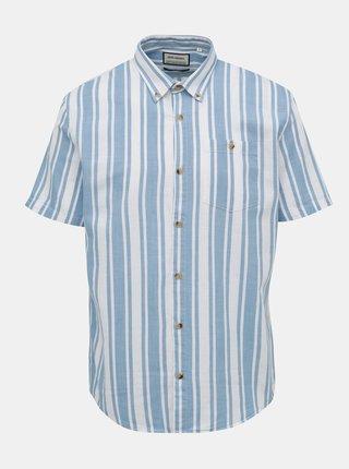 Bielo-modrá pruhovaná košeľa Shine Original