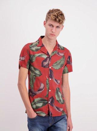 Červená vzorovaná košeľa Shine Original