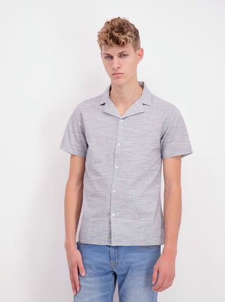 Šedá žíhaná košeľa Shine Original