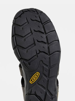 Kaki pánske kožené sandále Keen Clearwater CNX