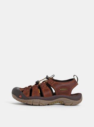 Hnedé pánske kožené sandále Keen Newport