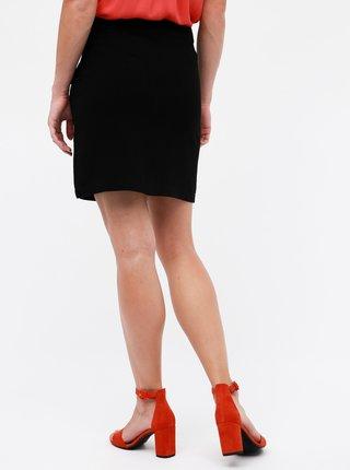 Čierna sukňa s prímesou ľanu Dorothy Perkins