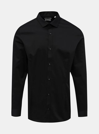 Čierna slim fit košeľa Jack & Jones Parma