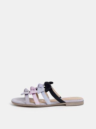Šedé semišové pantofle Tamaris