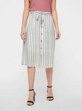 Bielo-šedá pruhovaná sukňa AWARE by VERO MODA Hailey