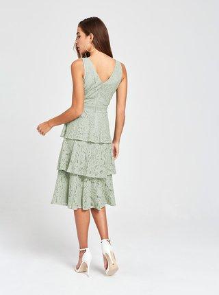 Šedé krajkové šaty Little Mistress