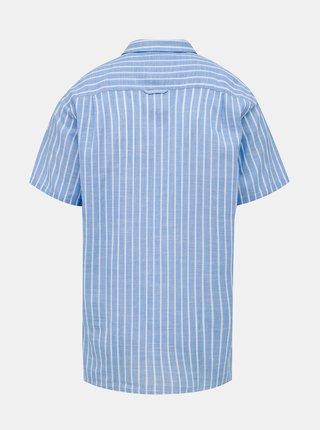 Modrá pruhovaná košeľa Raging Bull Bengal