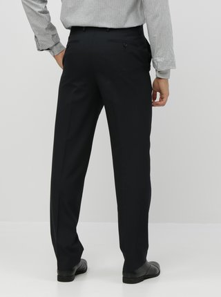 Čierne pruhované regular fit nohavice Burton Menswear London