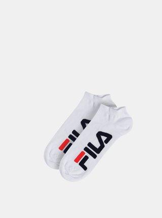 Sada dvoch párov bielych ponožiek FILA