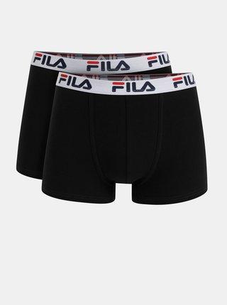 Sada dvoch čiernych boxeriek FILA
