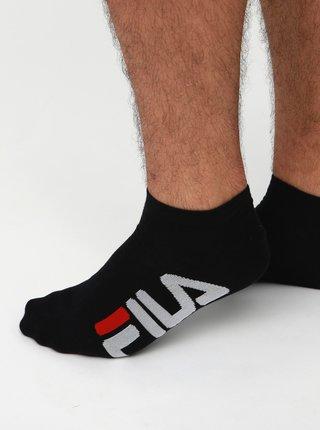 Sada dvoch párov pánskych čiernych nízkych ponožiek FILA