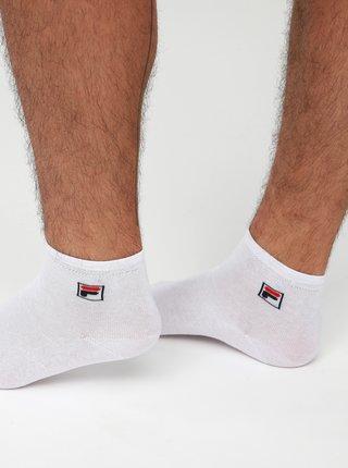 Sada troch párov bielych členkových ponožiek FILA