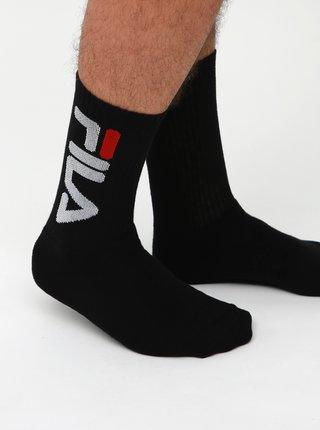 Sada dvou párů pánských černých ponožek FILA