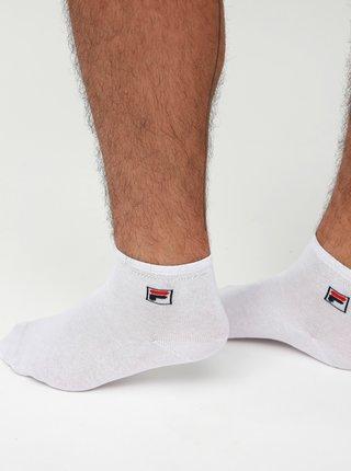 Sada troch párov členkových ponožiek v bielej, čiernej a šedej farbe FILA