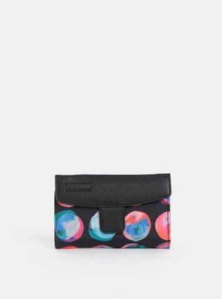 Čierna peňaženka s potlačou Meatfly Needle