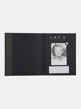 Černá foto kniha se samolepkami Design Letters Memories